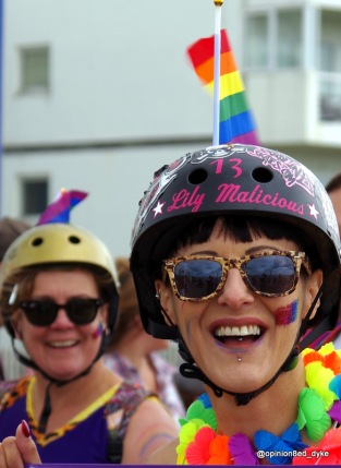 Lily Malicious roller derby - at Pride